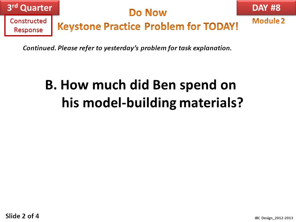 B. How much did Ben spend on his model-building materials