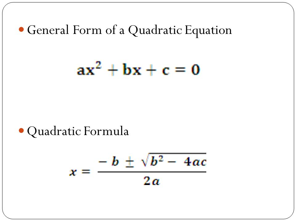 Sec 9 - Solving for Exact Solutions with the Quadratic Formula ...