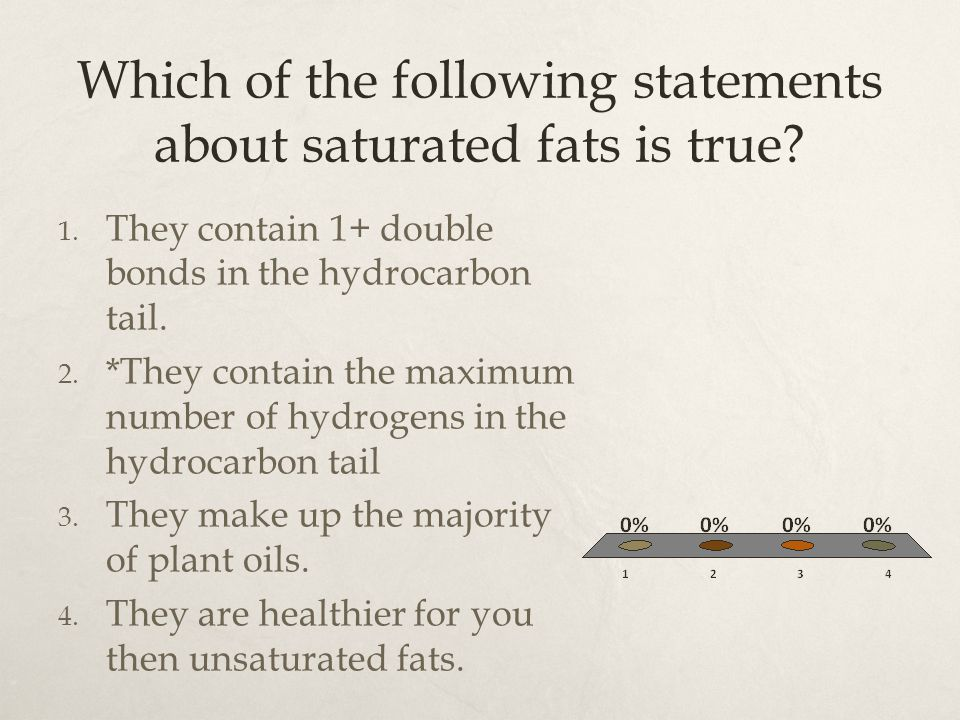 Which of the following statements about saturated fats is true