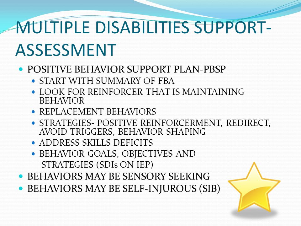 MULTIPLE DISABILITIES SUPPORT-ASSESSMENT