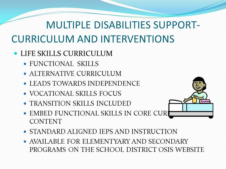 MULTIPLE DISABILITIES SUPPORT- CURRICULUM AND INTERVENTIONS