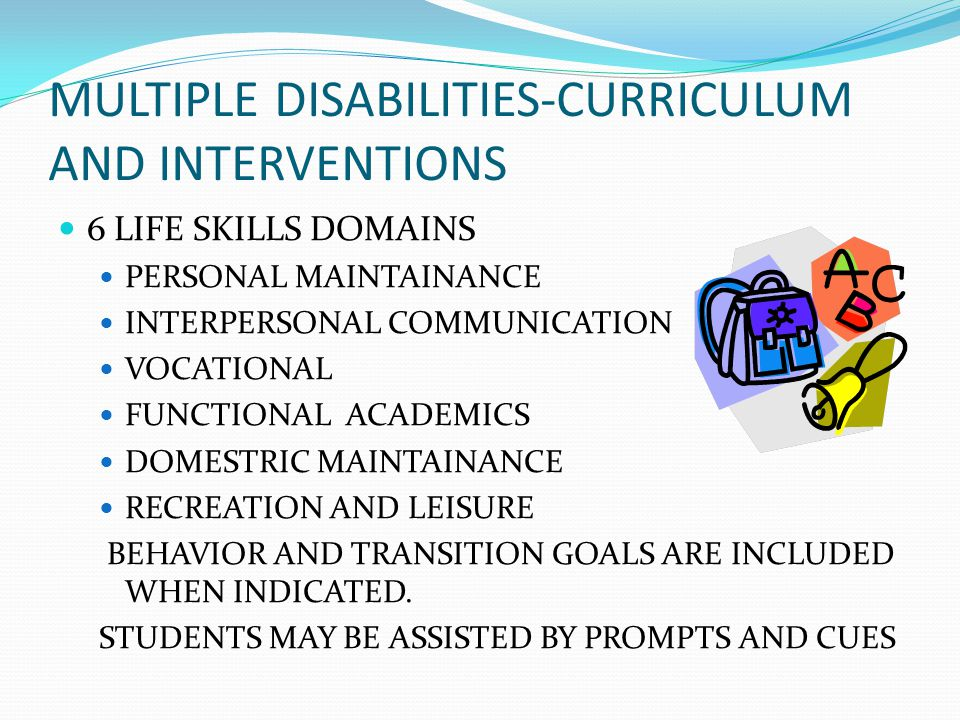 MULTIPLE DISABILITIES-CURRICULUM AND INTERVENTIONS