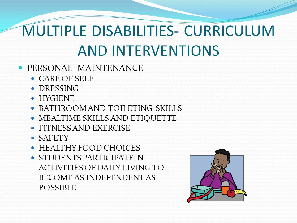 MULTIPLE DISABILITIES- CURRICULUM AND INTERVENTIONS