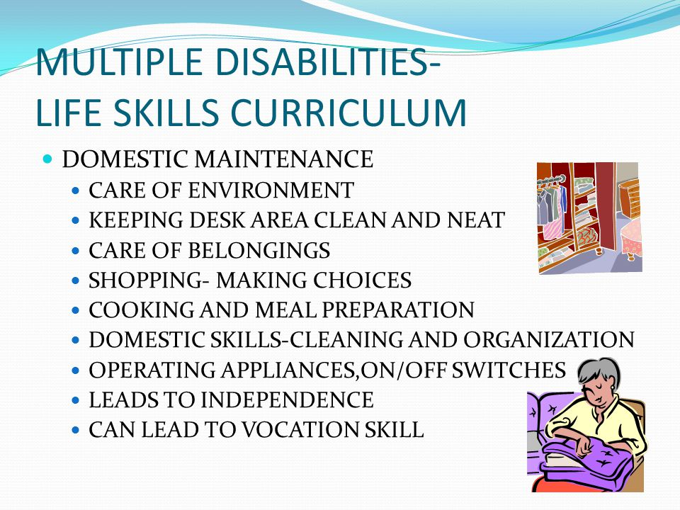 MULTIPLE DISABILITIES- LIFE SKILLS CURRICULUM