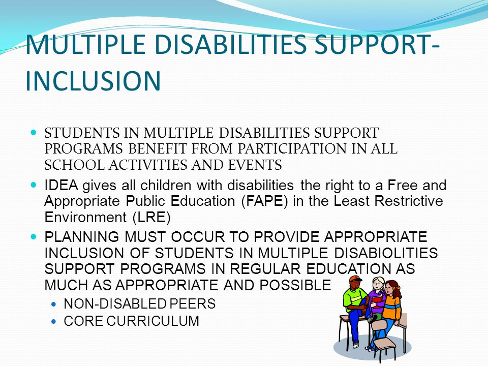 MULTIPLE DISABILITIES SUPPORT-INCLUSION