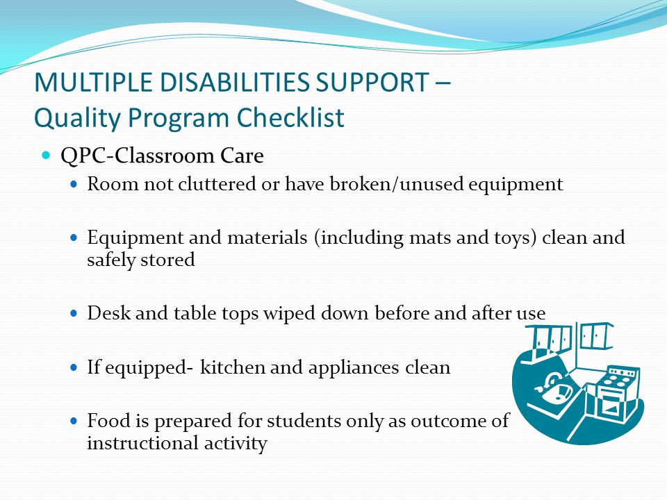 MULTIPLE DISABILITIES SUPPORT – Quality Program Checklist