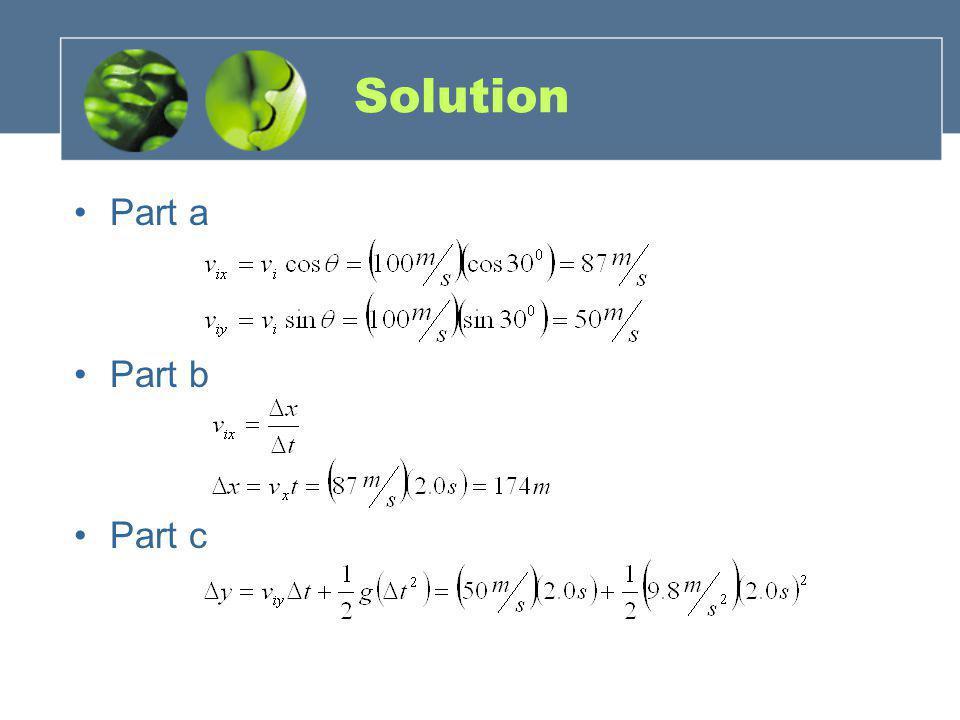 Solution Part a Part b Part c