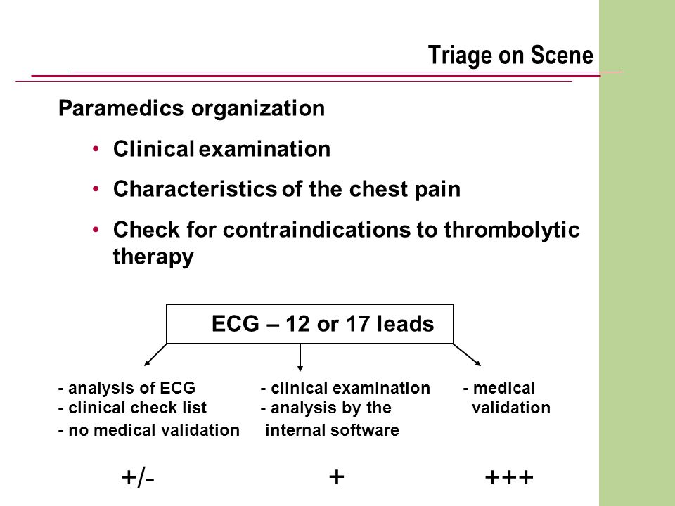 Triage on Scene Paramedics organization Clinical examination
