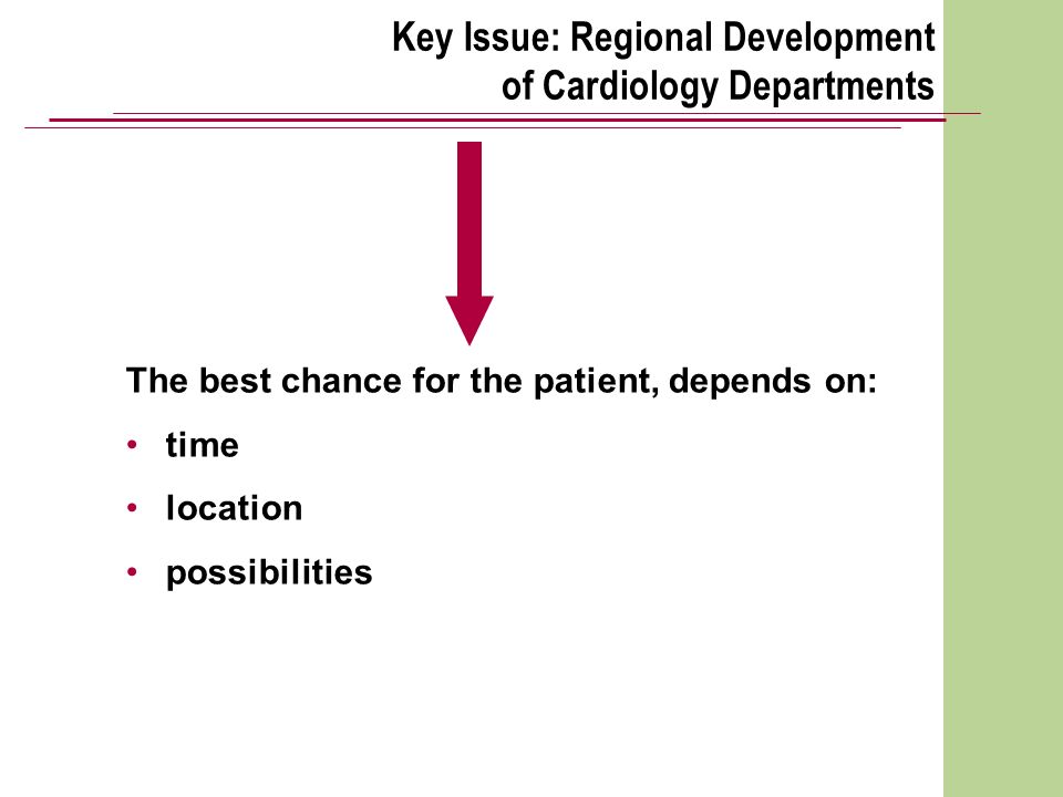 Key Issue: Regional Development of Cardiology Departments