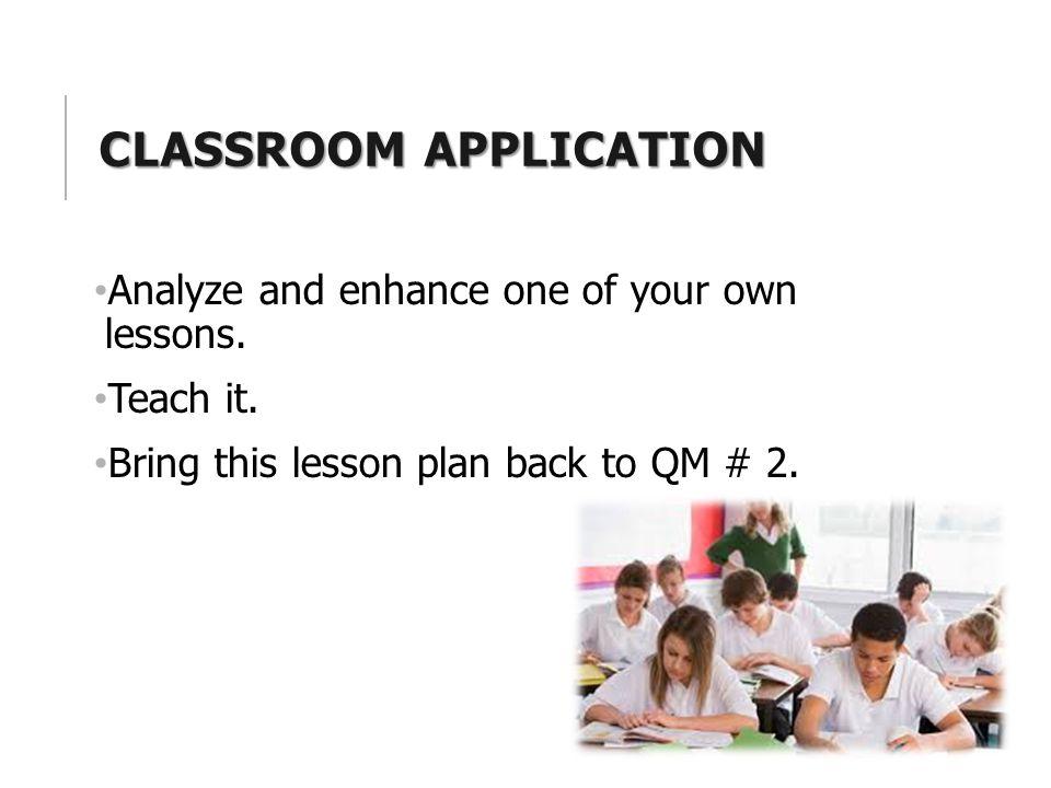 Classroom application