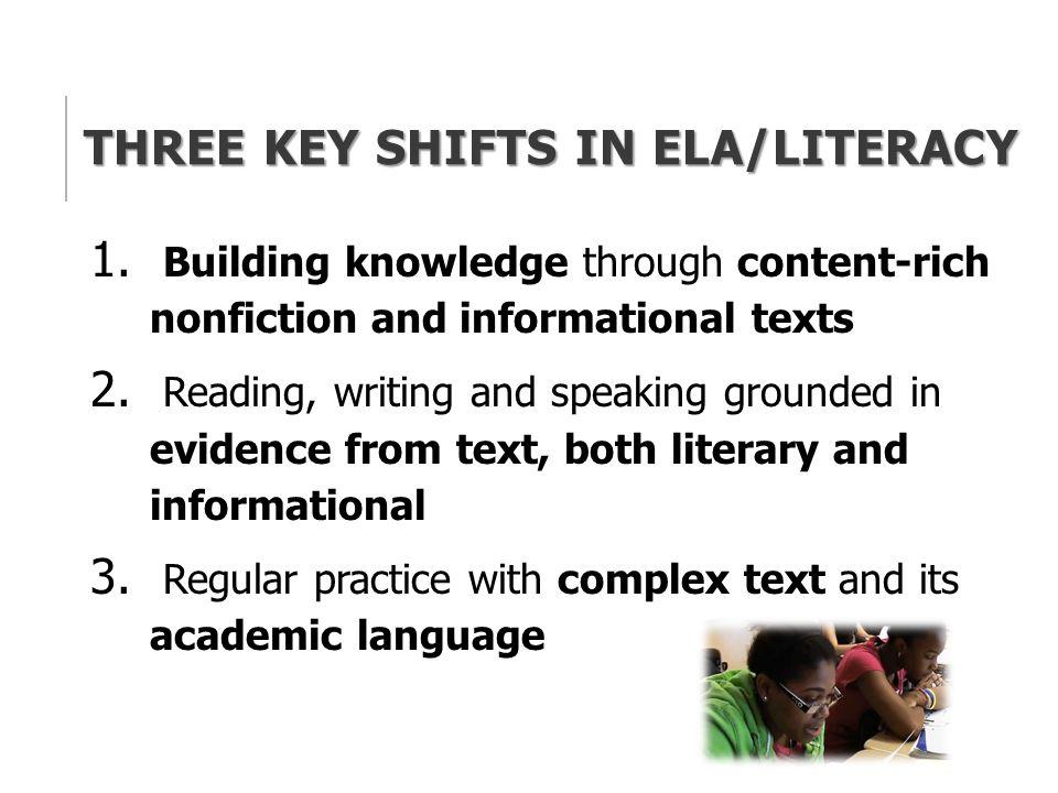 Three Key Shifts in ELA/Literacy