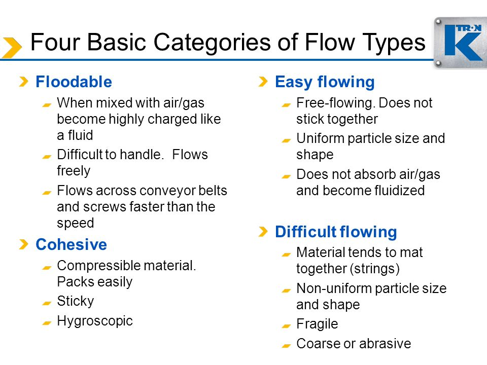 Four Basic Categories of Flow Types