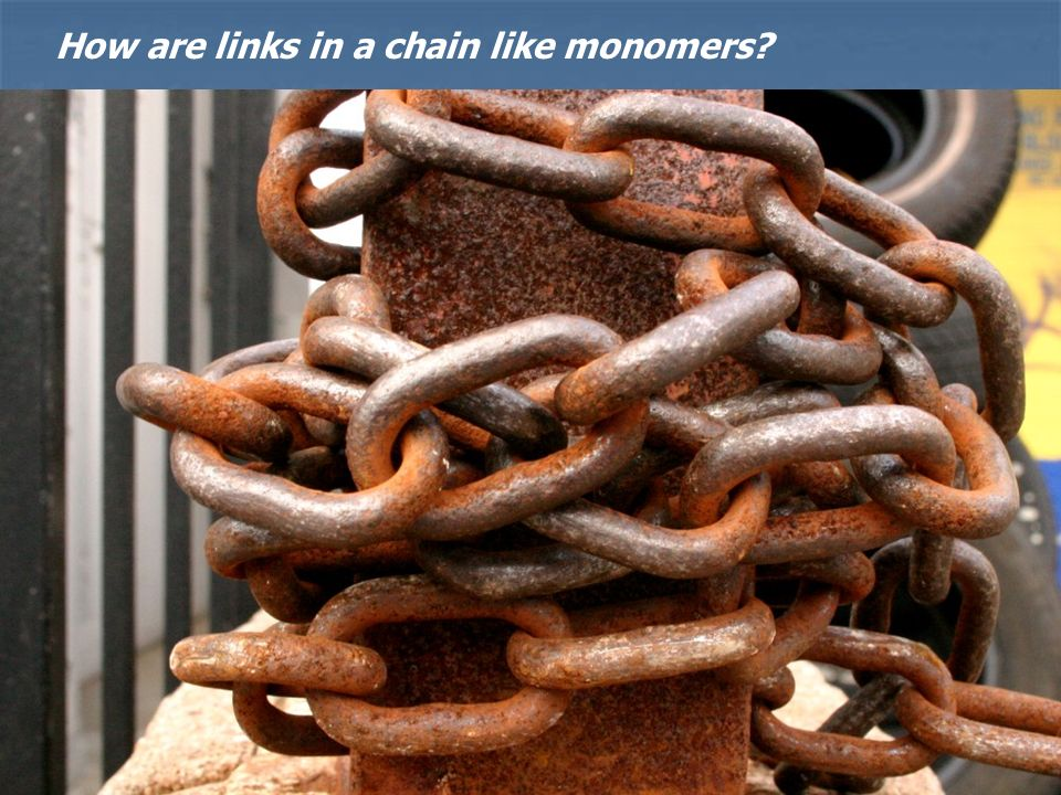 How are links in a chain like monomers