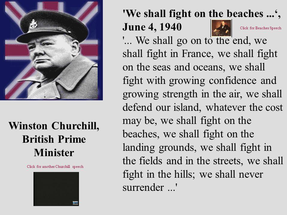 Winston Churchill, British Prime Minister