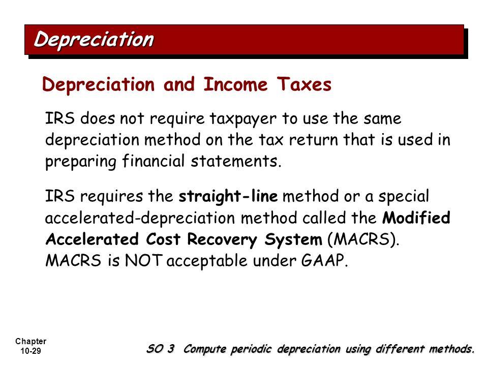 Depreciation Depreciation and Income Taxes