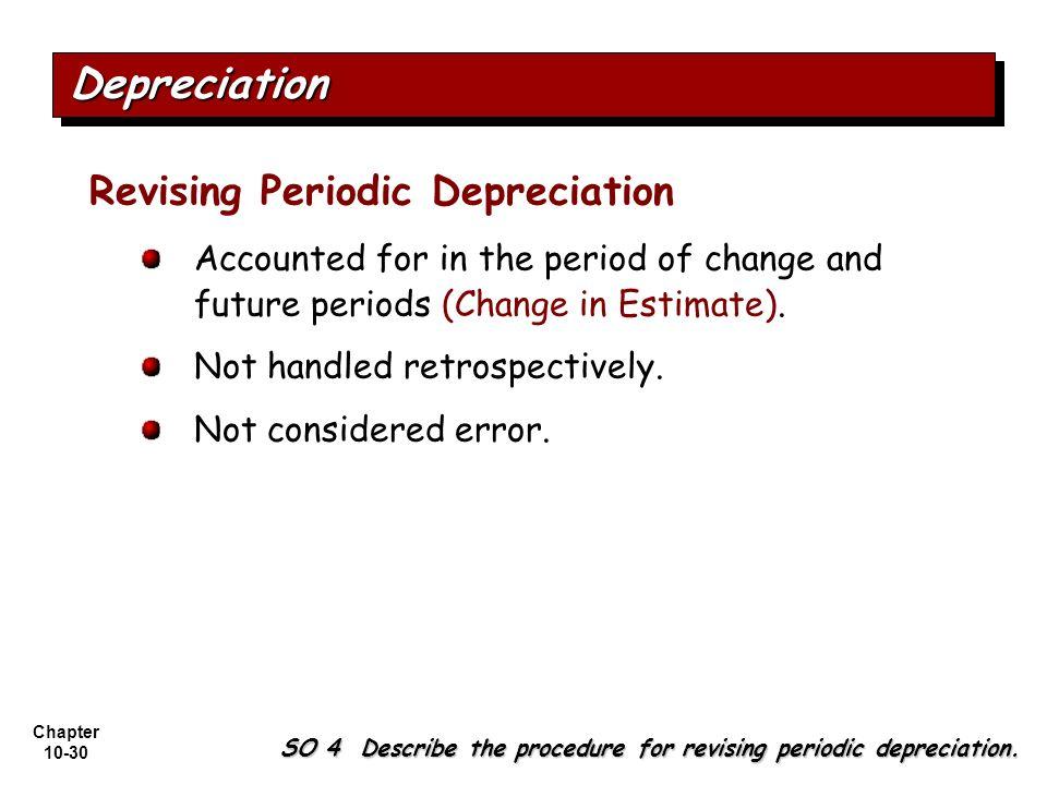Depreciation Revising Periodic Depreciation