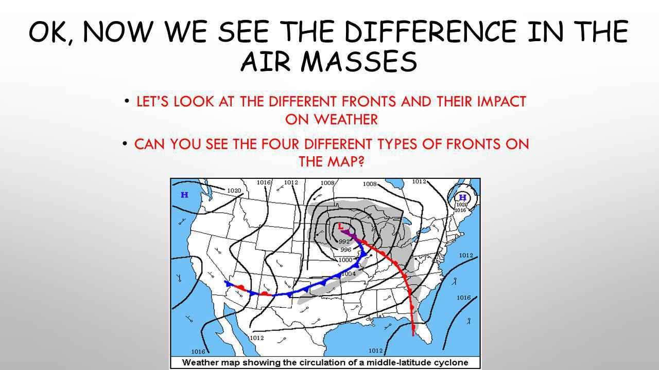 Ok, now we see the difference in the air masses