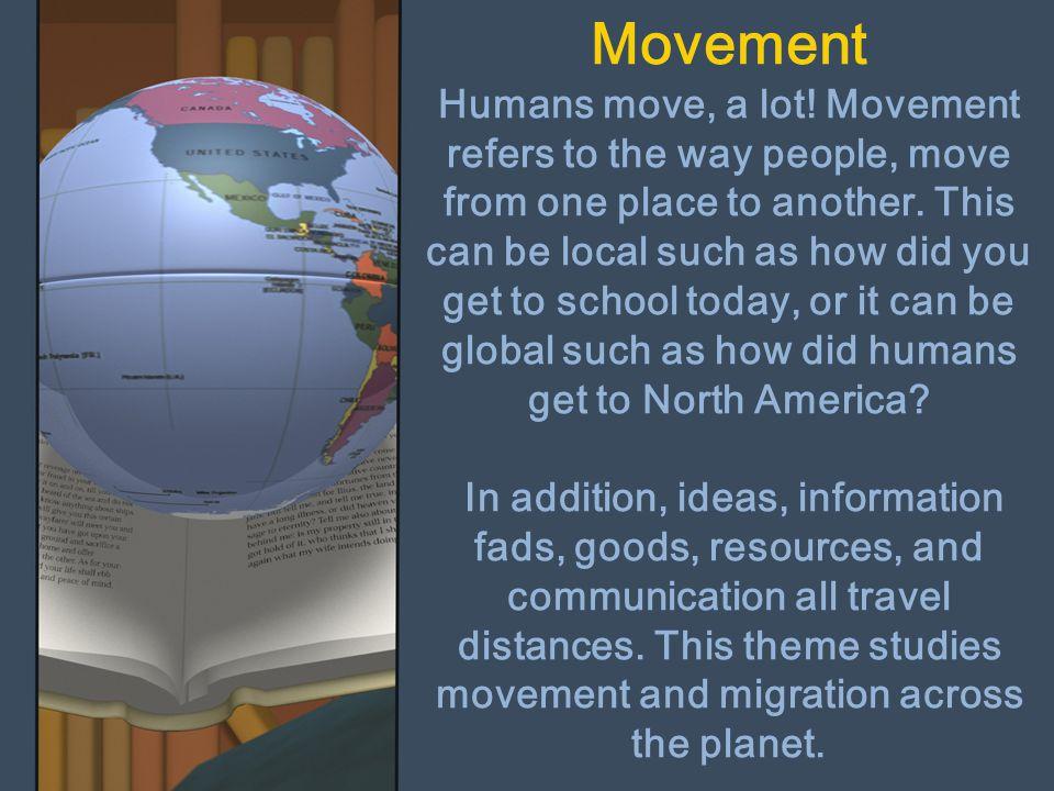 Movement Humans move, a lot
