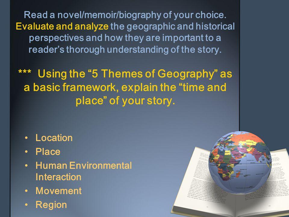 Read a novel/memoir/biography of your choice
