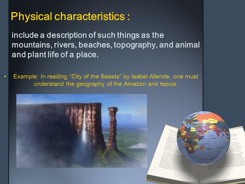 Physical characteristics :