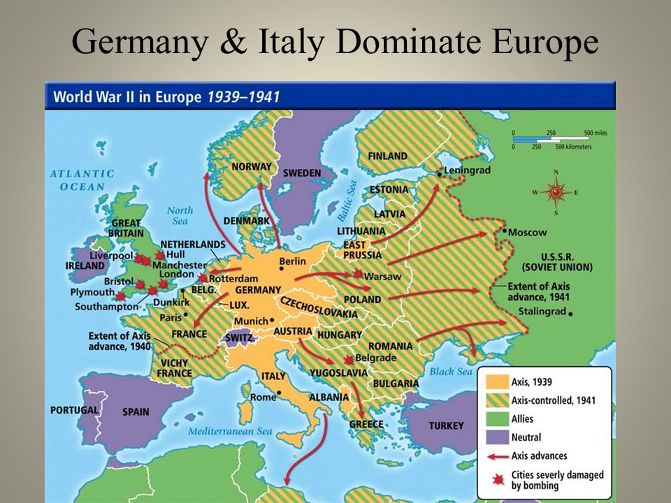 Germany & Italy Dominate Europe