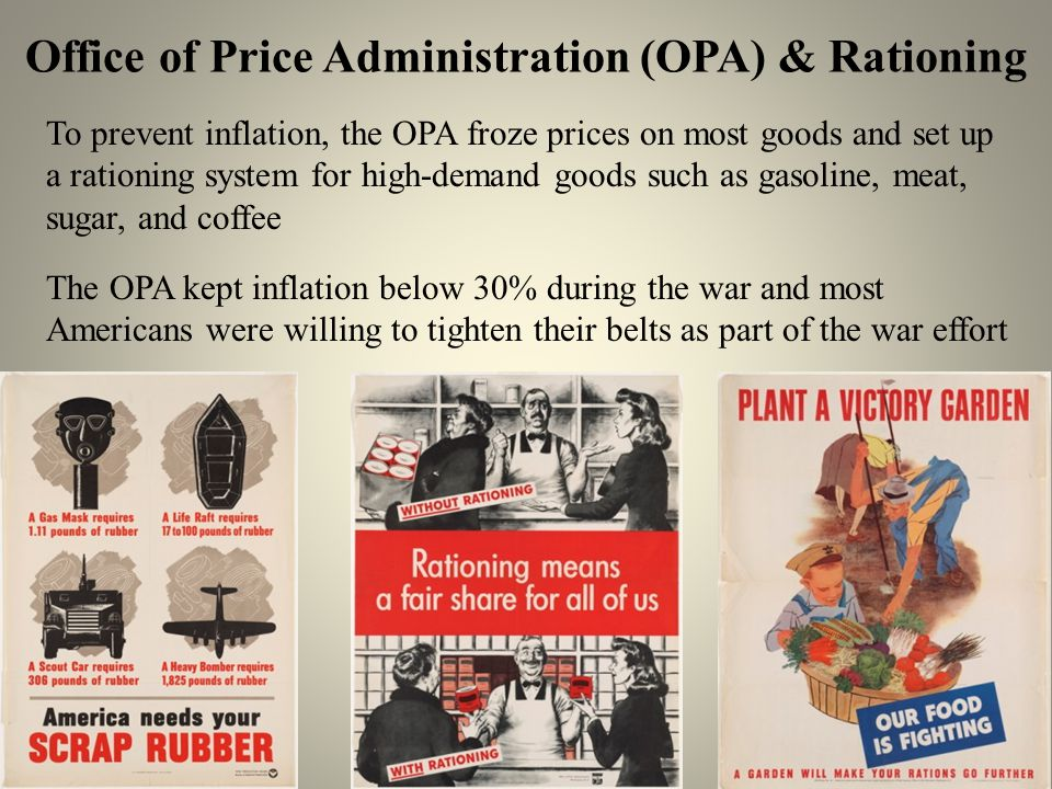 Office of Price Administration (OPA) & Rationing