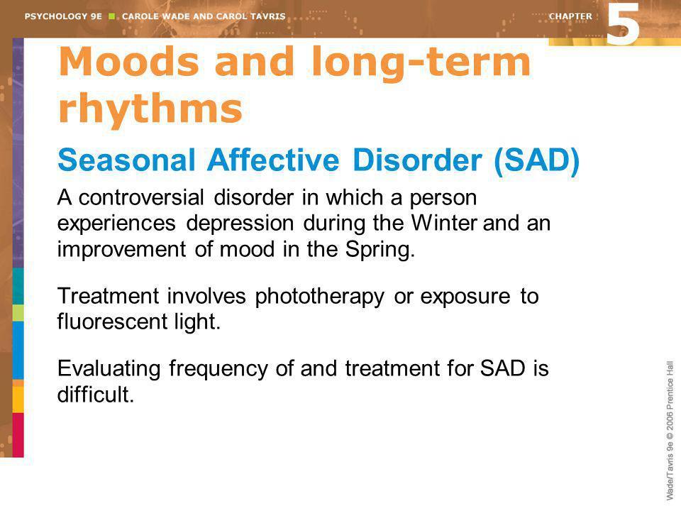 Moods and long-term rhythms