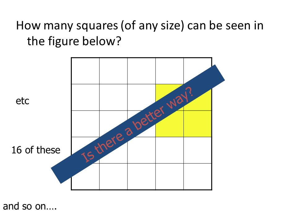 How many squares (of any size) can be seen in the figure below