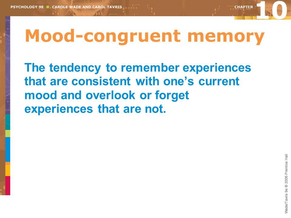 Mood-congruent memory