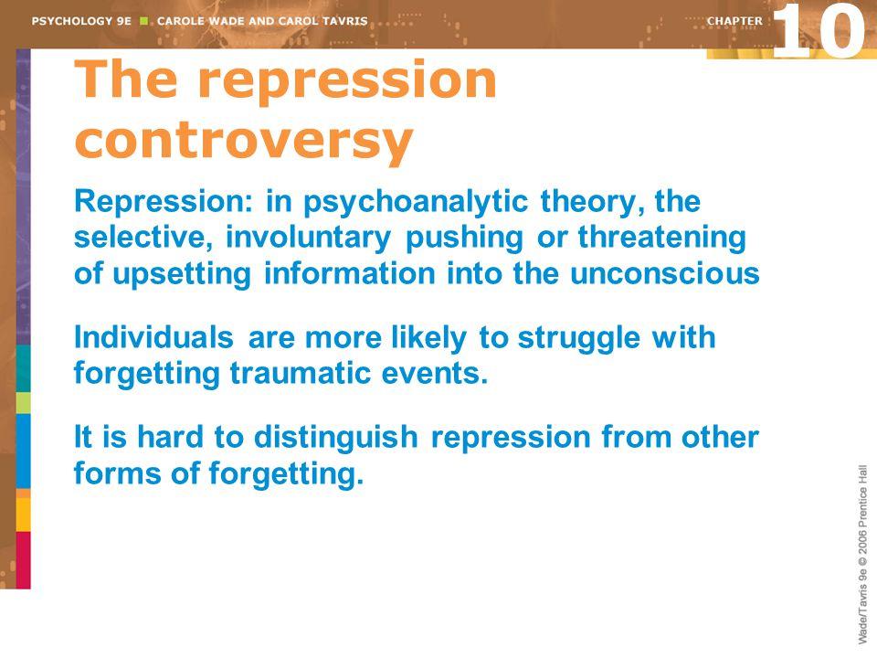 The repression controversy