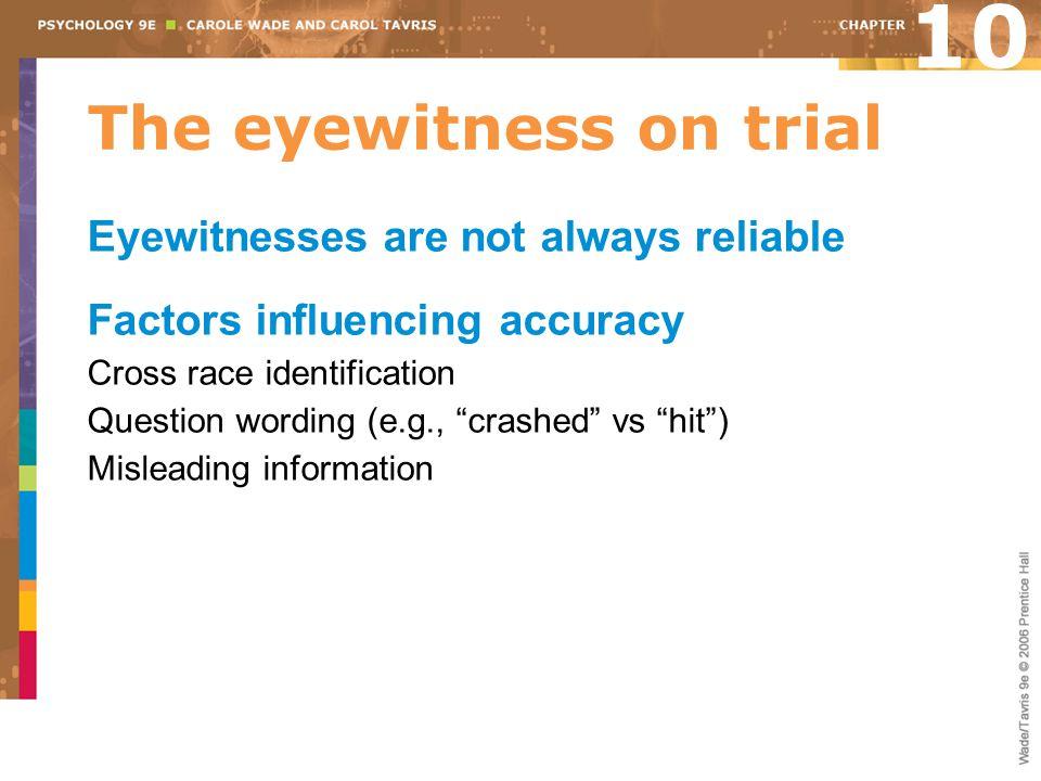 The eyewitness on trial
