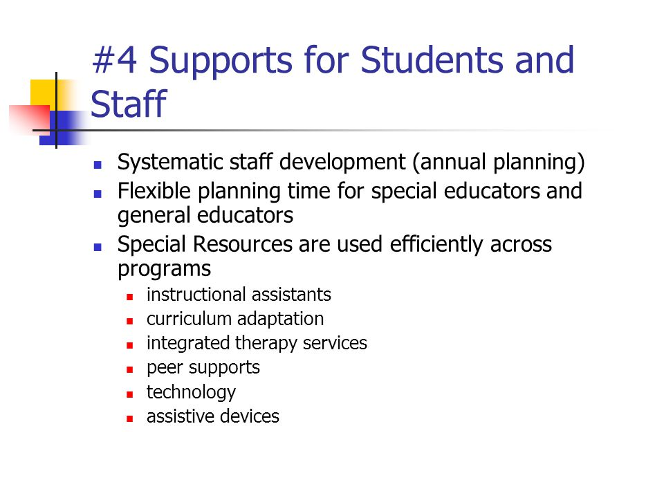 #4 Supports for Students and Staff