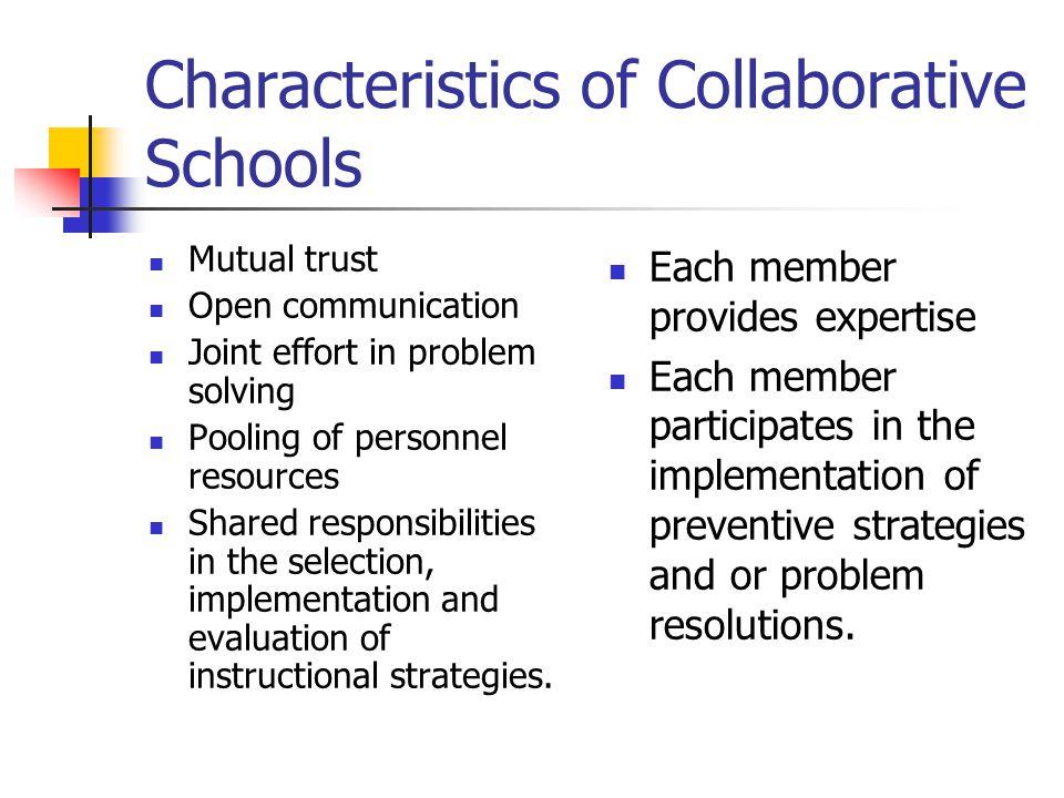Characteristics of Collaborative Schools
