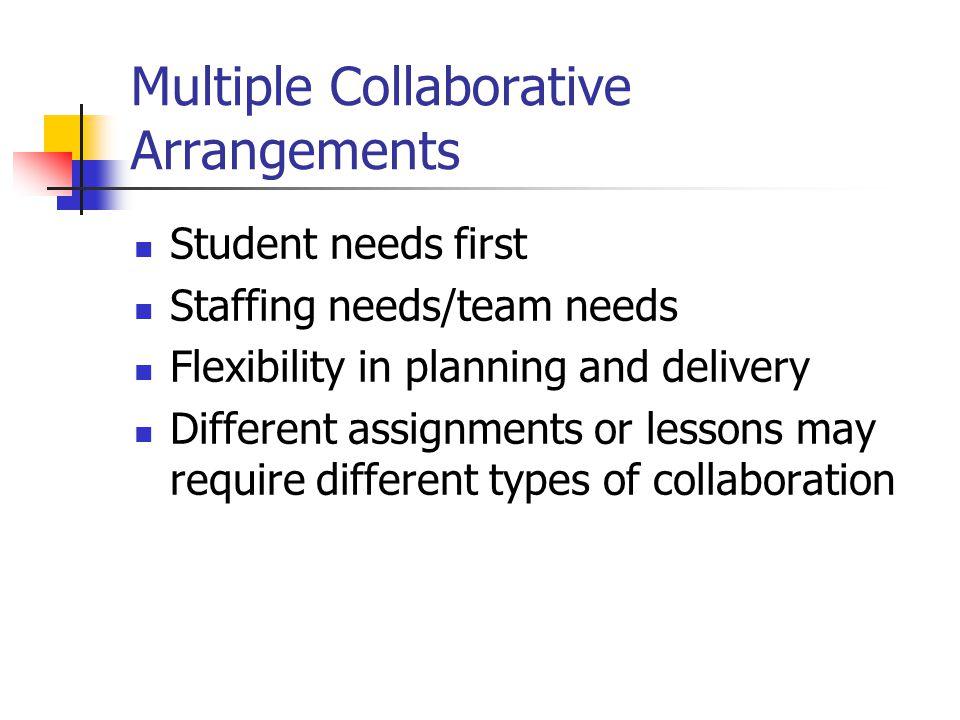 Multiple Collaborative Arrangements
