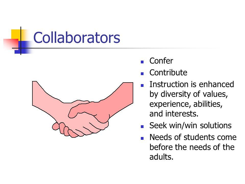 Collaborators Confer Contribute