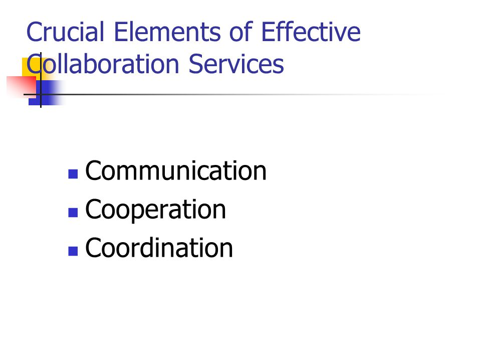 Crucial Elements of Effective Collaboration Services