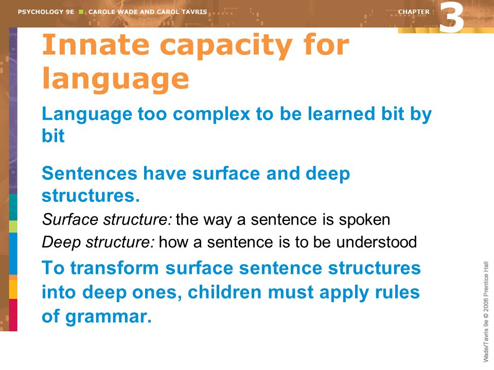 Innate capacity for language