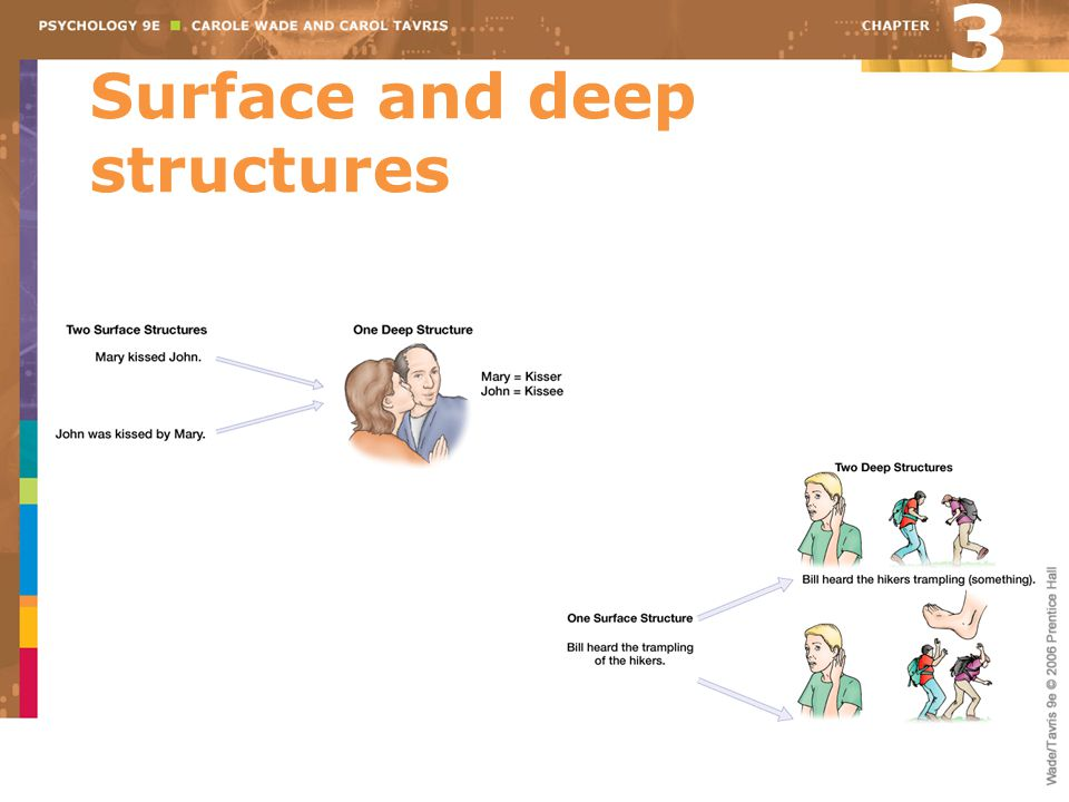 Surface and deep structures