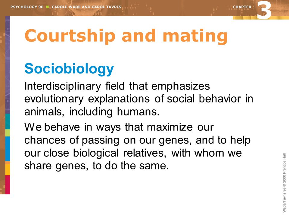 3 Courtship and mating Sociobiology