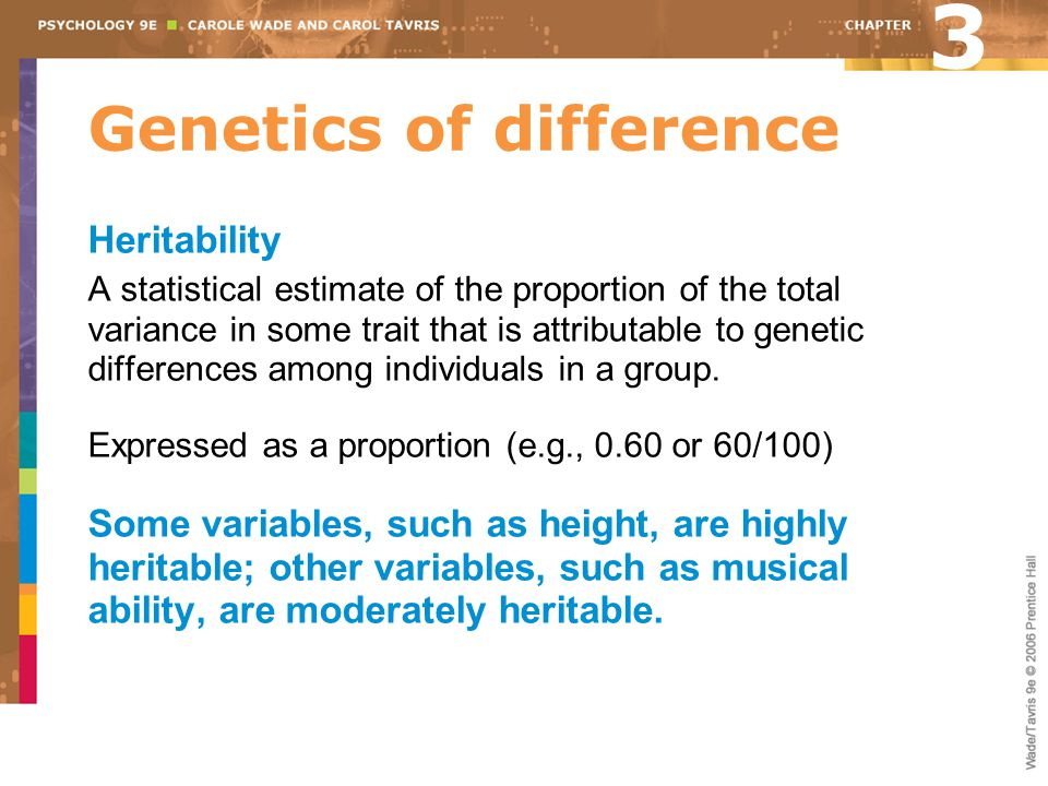 Genetics of difference