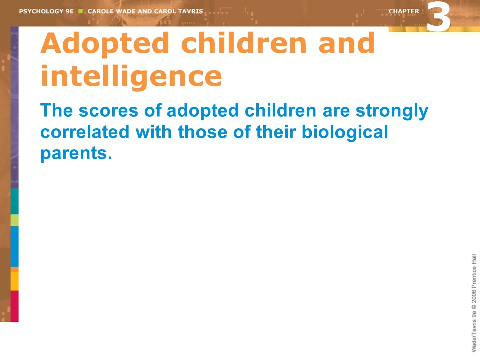 Adopted children and intelligence