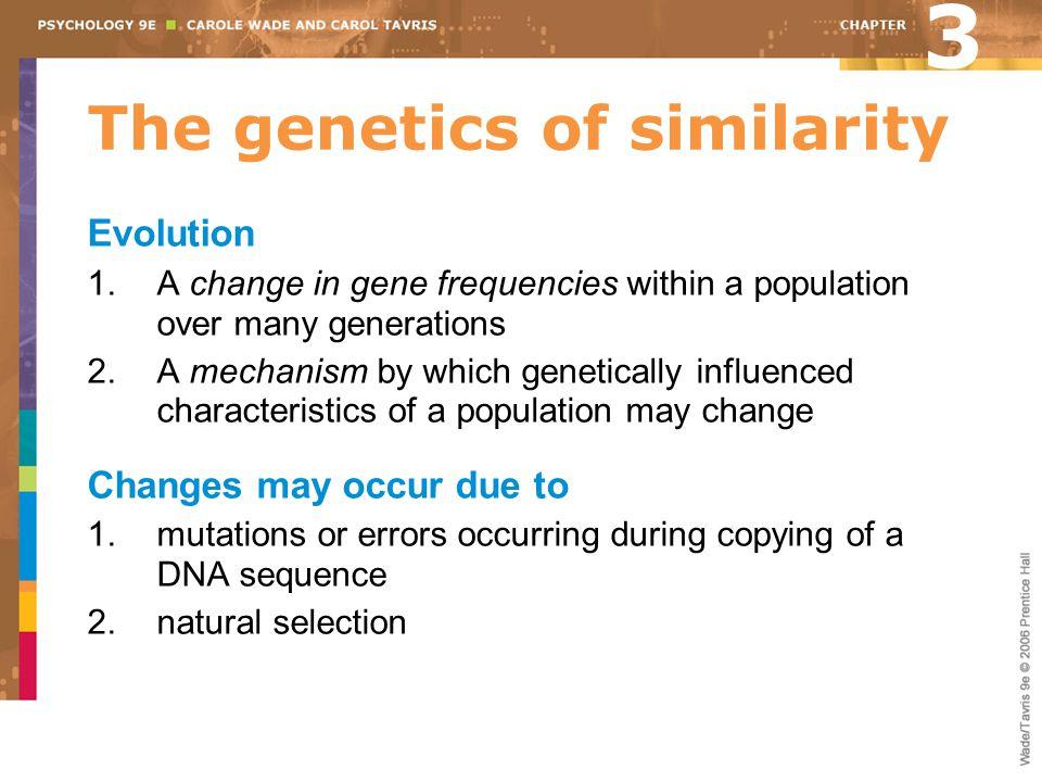 The genetics of similarity