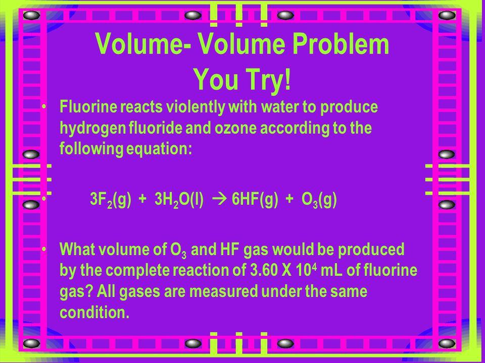Volume- Volume Problem You Try!