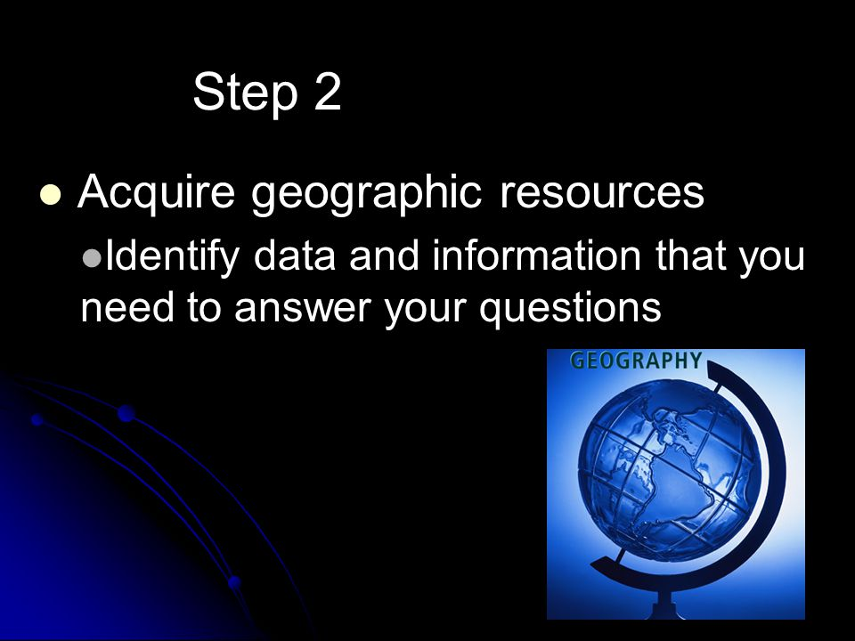 Step 2 Acquire geographic resources