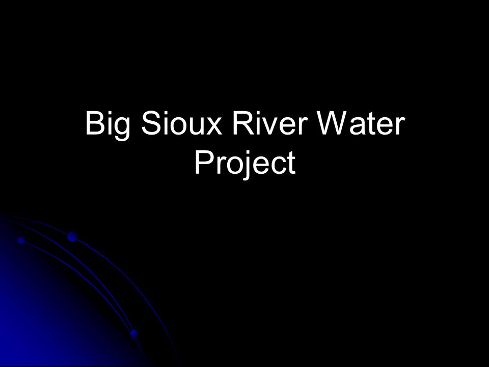 Big Sioux River Water Project