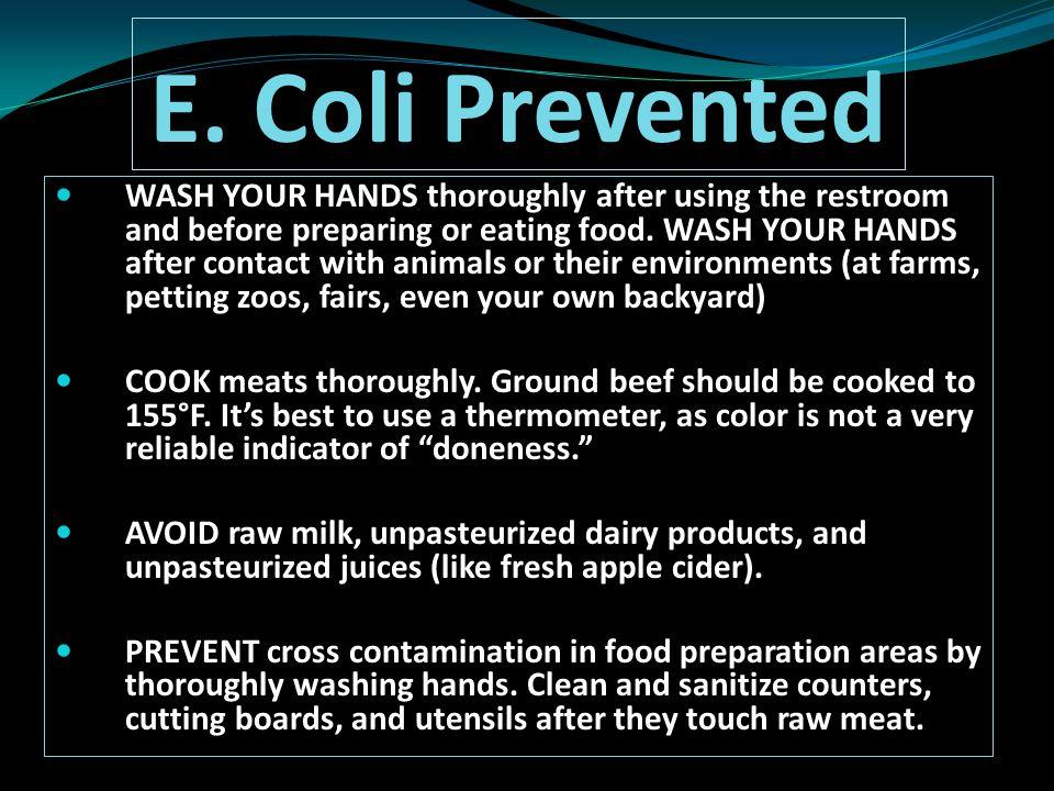 E. Coli Prevented
