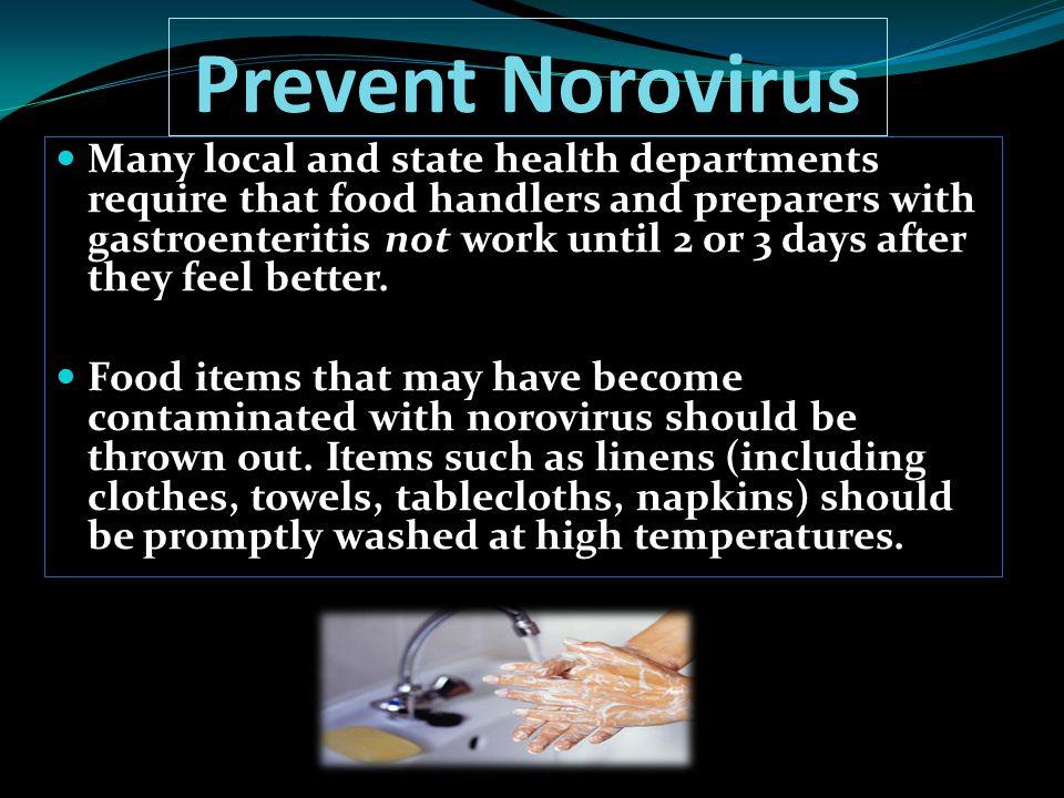 Prevent Norovirus