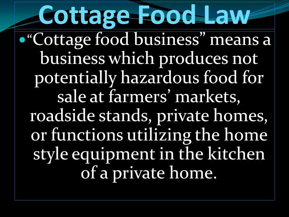 Cottage Food Law