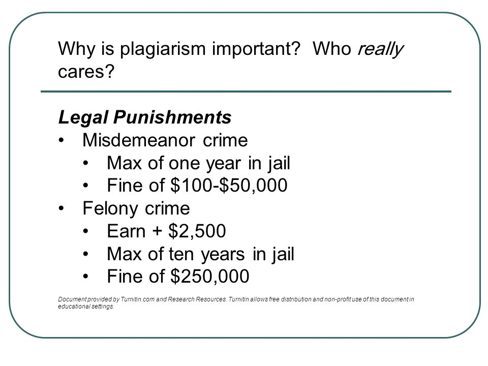 Why is plagiarism important Who really cares