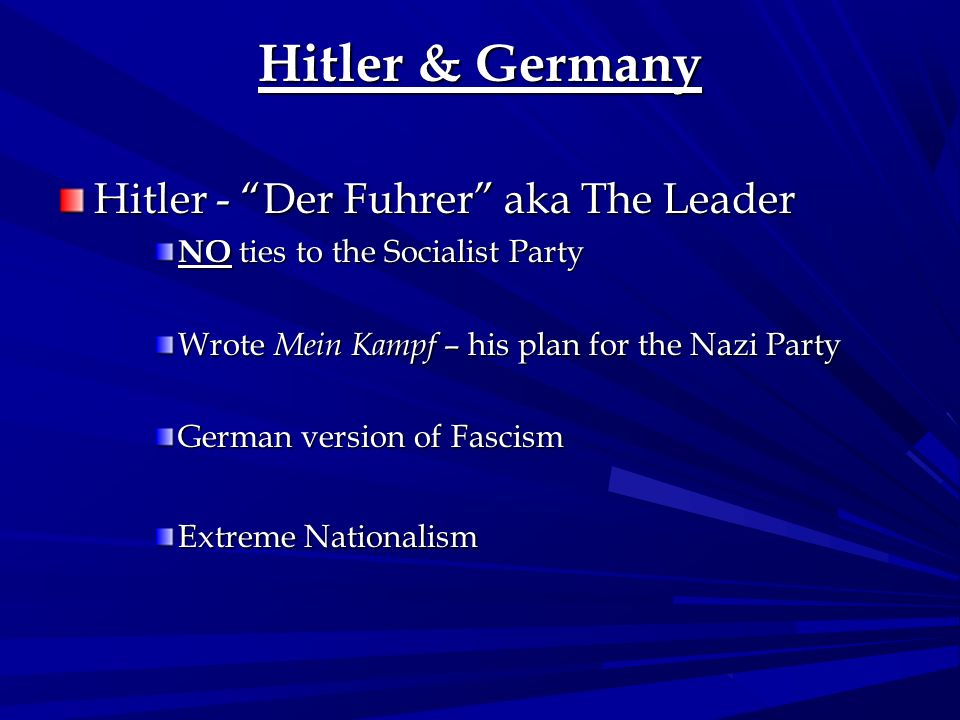 Hitler & Germany Hitler - Der Fuhrer aka The Leader